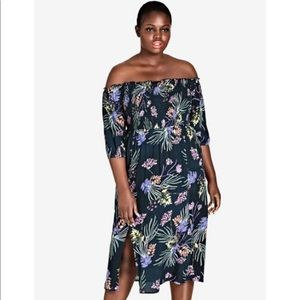 Brand new City Chic Exotic garden midi dress